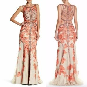 NWD Terani Couture embellished lace gown SZ 14